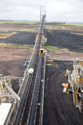 Lake Vermont Coal Mine Product Stockpile